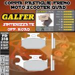FD318G1397 PASTIGLIE FRENO GALFER SINTERIZZATE POSTERIORI SUZUKI LT-F/A 500 F QUADRUNNER LEFT/IZQ. 98-
