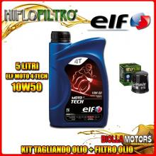 KIT TAGLIANDO 5LT OLIO ELF MOTO TECH 10W50 YAMAHA XVZ13 CT Royal Star Tour Deluxe (2pcs x HFA4918 required) 1300CC 2005-2009 + F