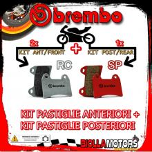 BRPADS-43588 KIT PASTIGLIE FRENO BREMBO KTM LC8 990 SUPERMOTO R 2009- 990CC [RC+SP] ANT + POST