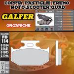 FD114G1054 PASTIGLIE FRENO GALFER ORGANICHE POSTERIORI KAWASAKI KDX 200 SR 90-