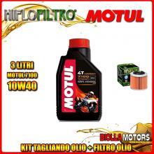 KIT TAGLIANDO 3LT OLIO MOTUL 7100 10W40 APRILIA 350 ETX 350CC 1985-1989 + FILTRO OLIO HF151