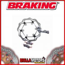 OKWL03 DISCO FRENO KIT MAGGIORATO ANTERIORE SX BRAKING KTM EXC 125cc 2000-2009 WAVE FLOTTANTE