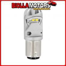 57893 PILOT 9-30V MEGA-LED HP-4 - 4 SMD X 1 CHIP - (P21/5W) - BAY15D - 1 PZ - D/BLISTER - BIANCO