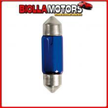 58367 PILOT 12V BLUE DYED GLASS, LAMPADA SILURO - (C10W) - 11X35 MM - 10W - SV8,5-8 - 2 PZ - D/BLISTER