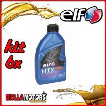 KIT 6X LITRO OLIO ELF HTX 909 2T MISCELA - 6x 155877