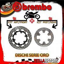 BRDISC-4080 KIT DISCHI FRENO BREMBO KTM LC8 ADVENTURE S 2006-2008 990CC [ANTERIORE+POSTERIORE] [FLOTTANTE/FISSO]