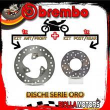 BRDISC-591 KIT DISCHI FRENO BREMBO GILERA STALKER 1998- 50CC [ANTERIORE+POSTERIORE] [FISSO/FISSO]