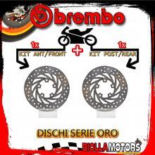 BRDISC-126 KIT DISCHI FRENO BREMBO APRILIA LEONARDO ST 1999-2002 150CC [ANTERIORE+POSTERIORE] [FISSO/FISSO]