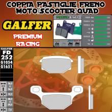 FD252G1651 PASTIGLIE FRENO GALFER PREMIUM POSTERIORI PEUGEOT NK 7 10-