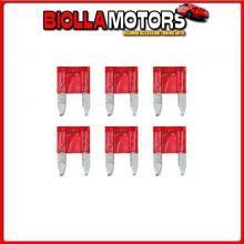 70191 LAMPA SMART LED, SET 6 MICRO-FUSIBILI LAMELLARI CON SPIA A LED, 12/32V - 10A