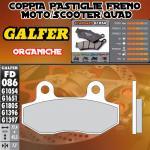 FD086G1054 PASTIGLIE FRENO GALFER ORGANICHE POSTERIORI PEUGEOT METROPOLIS 400i 12-