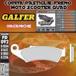 FD092G1054 PASTIGLIE FRENO GALFER ORGANICHE POSTERIORI SYM VOYAGER 125 05-