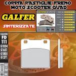 FD111G1371 PASTIGLIE FRENO GALFER SINTERIZZATE POSTERIORI KAWASAKI ZXR 750 STINGER 89-90