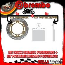 KIT-POHQ DISCO E PASTIGLIE BREMBO POSTERIORE MOTO GUZZI CALIFORNIA EV TOURING 1100CC 2003- [SP+FISSO] 68B407G4+07BB01SP