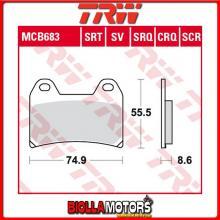 MCB683 PASTIGLIE FRENO ANTERIORE TRW Sachs XTC 125 Racing 2008- [ORGANICA- ]