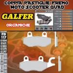 FD117G1054 PASTIGLIE FRENO GALFER ORGANICHE POSTERIORI KAWASAKI KLF 300 C1-> C5 BAYOU RIGHT/DER. 89-01