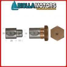 5127031 ANODO BARROTTO Barrotti Motore Aifo-Fiat (20x20mm)