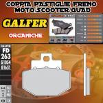FD263G1054 PASTIGLIE FRENO GALFER ORGANICHE POSTERIORI PIAGGIO SUPER HEXAGON GTX 180 (G) 01-