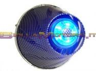STR-332.00/CA FILTRO HELIX CARBONIO SCURO LED BLU ATTACCO 35-38 DRITTO + CURVA90