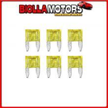 70193 LAMPA SMART LED, SET 6 MICRO-FUSIBILI LAMELLARI CON SPIA A LED, 12/32V - 20A