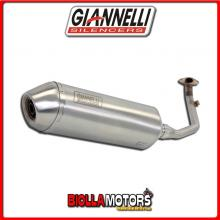 52642IPR TERMINALE COMPLETO GIANNELLI G-4 KYMCO XCITING 400i 2012-2016 INOX/INOX