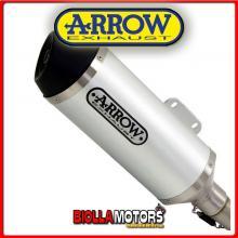 73502AN TERMINALE ARROW URBAN PIAGGIO MP3 400 RST 2007-2011 ALLUMINIO/DARK