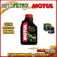 KIT TAGLIANDO 4LT OLIO MOTUL 5100 10W40 DUCATI 1198 Diavel 1198CC 2011-2016 + FILTRO OLIO HF153