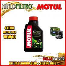 KIT TAGLIANDO 4LT OLIO MOTUL 5100 10W40 DUCATI 1200 Monster S Stripe 1200CC 2016- + FILTRO OLIO HF153