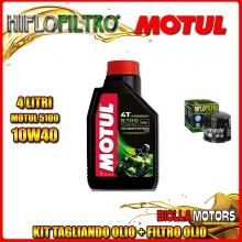 KIT TAGLIANDO 4LT OLIO MOTUL 5100 10W40 DUCATI 400 Monster Dark (Japan Only) 400CC 2002-2005 + FILTRO OLIO HF153