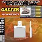 FD012G1371 PASTIGLIE FRENO GALFER SINTERIZZATE ANTERIORI BENELLI 125 E 86-