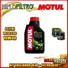 KIT TAGLIANDO 4LT OLIO MOTUL 5100 10W40 DUCATI 1198 S Corse SE 1198CC 2010- + FILTRO OLIO HF153